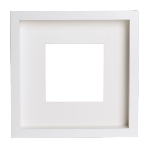 RIBBA Frame   You can place the motif on the front or back of the extra deep frame.  The mat enhances the picture and makes framing easy.