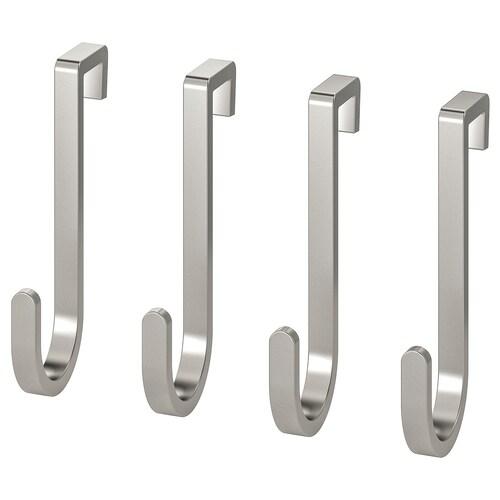 """RIMFORSA hook stainless steel 1 ½ """" 2 ¼ """" 9 lb 4 pack"""