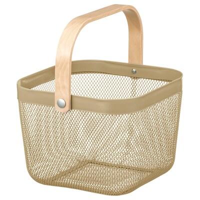"""RISATORP basket light olive-green 9 ¾ """" 10 ¼ """" 7 """""""