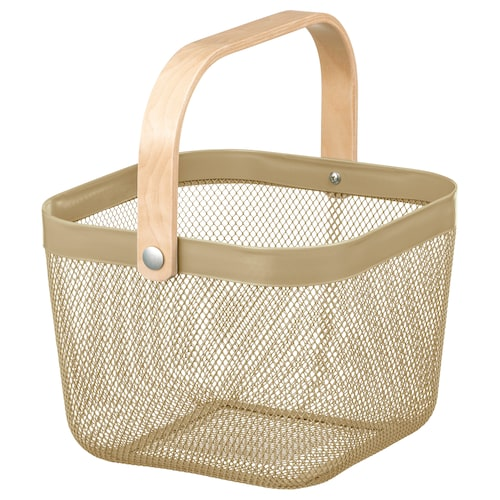 "RISATORP basket light olive-green 9 ¾ "" 10 ¼ "" 7 """