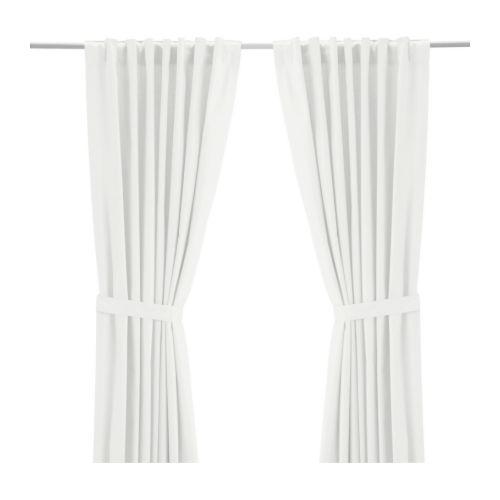 RITVA Curtains with tie backs 1 pair 145x250 cm IKEA