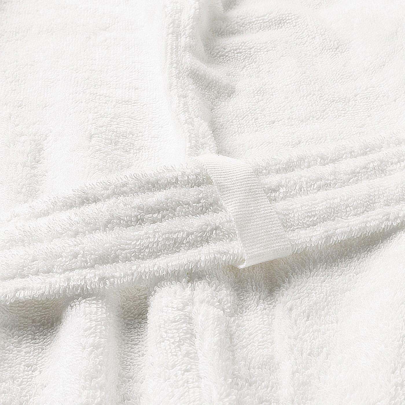 ROCKÅN Bathrobe, white, S/M