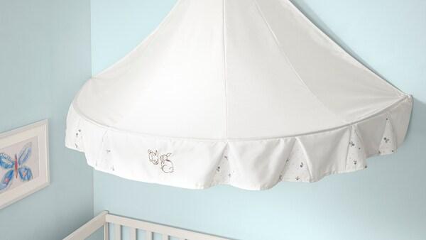 RÖDHAKE Bed canopy, rabbit pattern