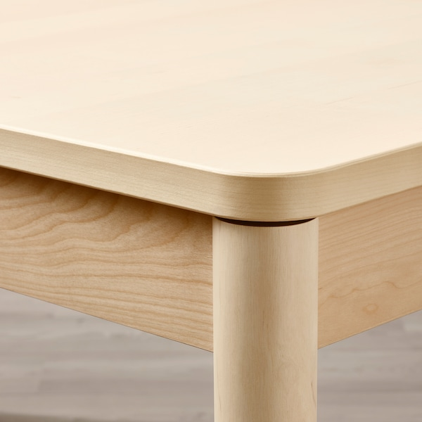 RÖNNINGE Extendable table, birch, 61/82 5/8x35 3/8x29 1/2 ""
