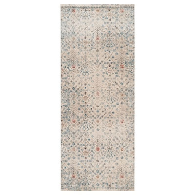 """ROMDRUP Rug, low pile, off-white antique look/floral patterned, 2 ' 7 """"x6 ' 7 """""""