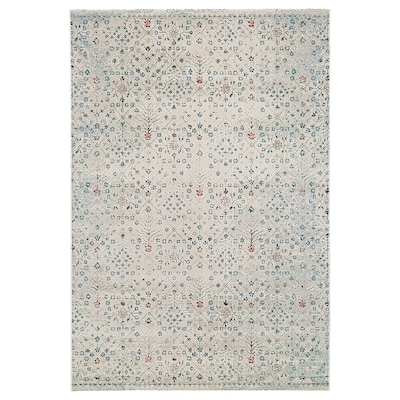 """ROMDRUP rug, low pile off-white antique look/floral patterned 7 ' 7 """" 5 ' 3 """" ½ """" 39.61 sq feet"""