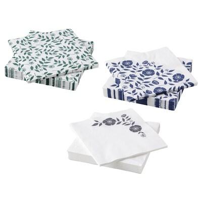 "ROSENHÄTTA Paper napkin, assorted colors, 13x13 """