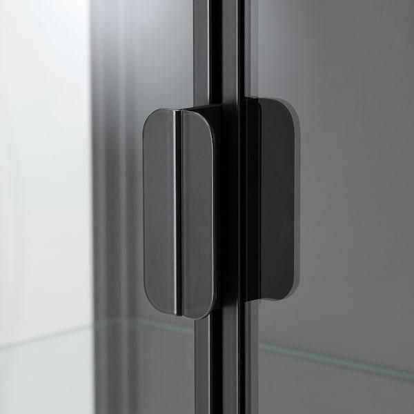 """RUDSTA Glass-door cabinet, anthracite, 31 1/2x14 5/8x47 1/4 """""""