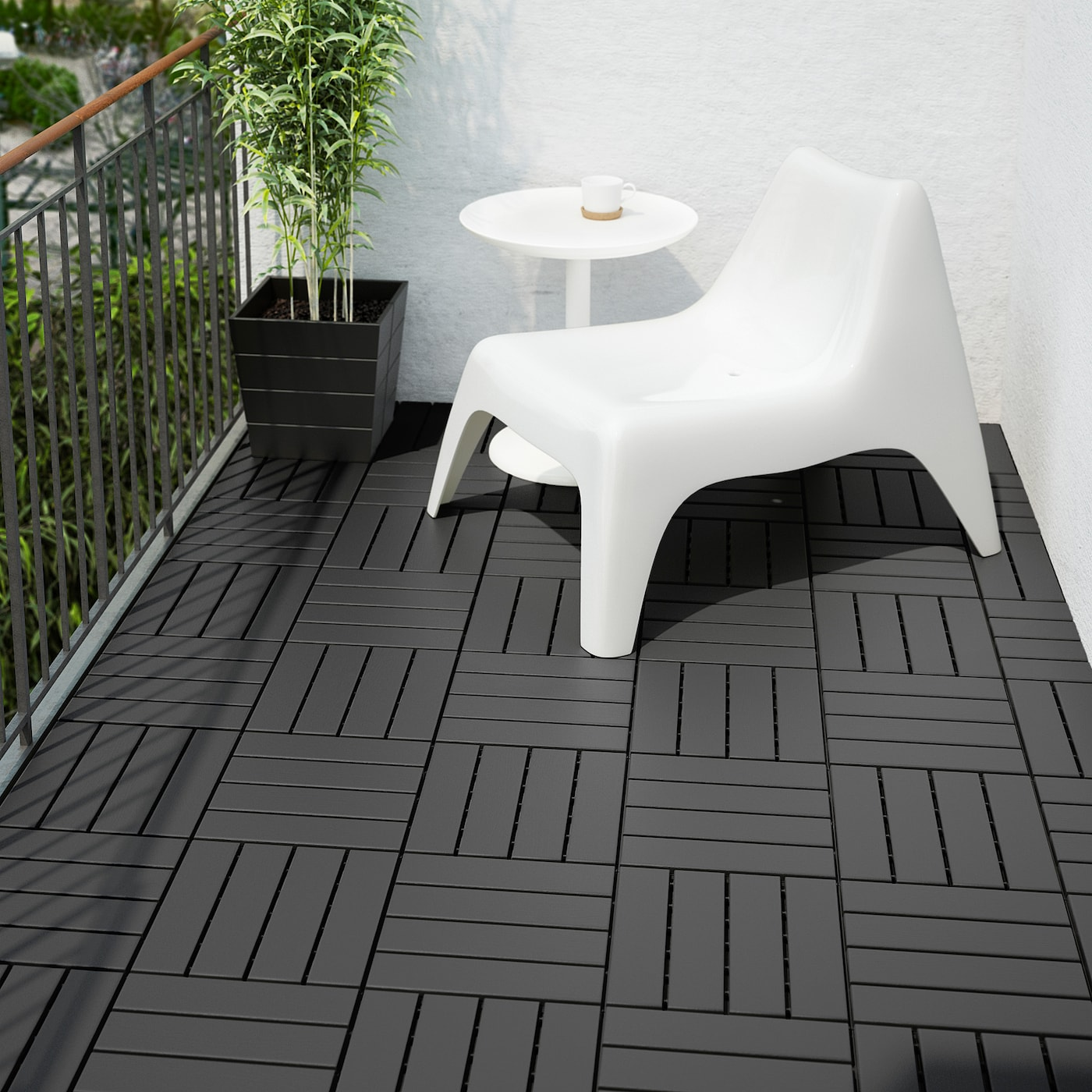 Ikea RUNNEN Decking, outdoor, dark gray9 sq feet (0.81 m²)