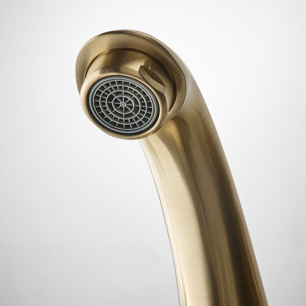 RUNSKÄR Bath faucet with strainer, brass color
