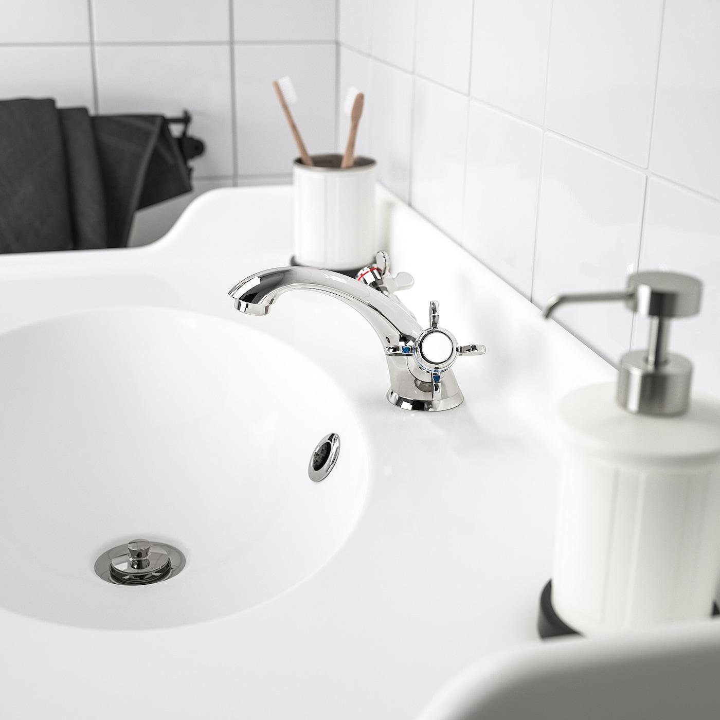 RUNSKÄR Bath faucet with strainer, chrome plated