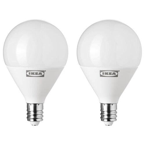 RYET LED bulb E12 200 lumen globe opal white 2700 K 200 lm 2.2 W 2 pack
