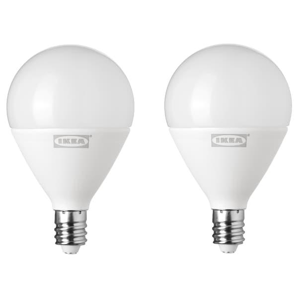 RYET LED bulb E12 400 lumen globe opal white 2700 K 400 lm 4.4 W 2 pack