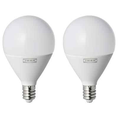 RYET LED bulb E12 450 lumen, globe opal white