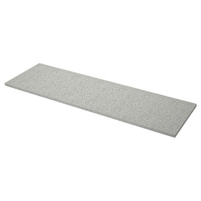 "SÄLJAN Countertop, light gray mineral effect/laminate, 98x1 1/2 """