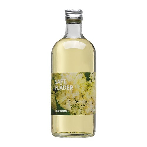 SAFT FLÄDER Elderflower syrup   The elder bush bears white blossoms, suitable for making juice and jam.