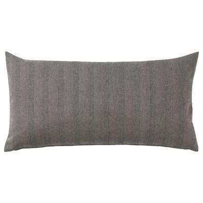 """SAGALOVISA Cushion, black/natural, 12x23 """""""