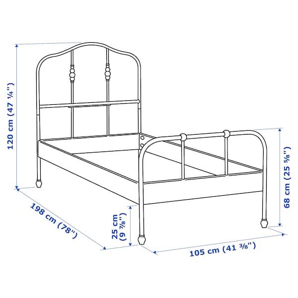 SAGSTUA Bed frame, black/Luröy, Twin