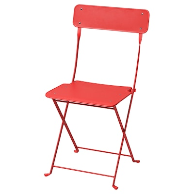 SALTHOLMEN Chair, outdoor, foldable/orange