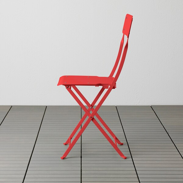 SALTHOLMEN Chair, outdoor, foldable/orange