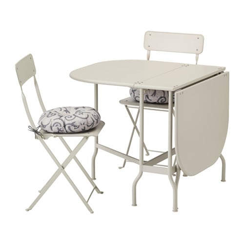 Jugendzimmer Ikea Für Mädchen ~ SALTHOLMEN Table and 2 folding chairs, outdoor Two folding drop leaves
