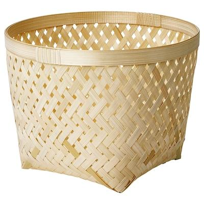 "SALUDING Basket, handmade bamboo, 11 ¾ """