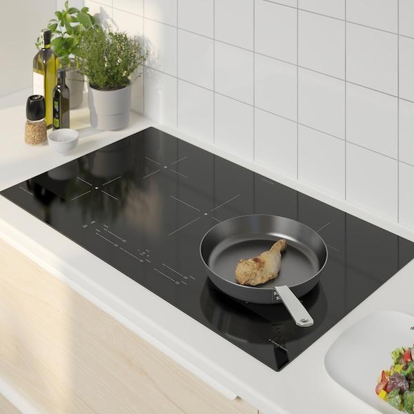"SAMFÄLLD Induction cooktop, black, 36 """