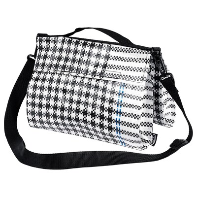 "SAMMANKOPPLA bag black/white 10 ¾ "" 8 ¾ "" 186 oz"