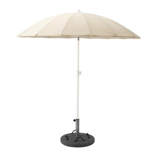 SAMSÖ Patio Umbrella With Base   Beige/Lökö Gray   IKEA