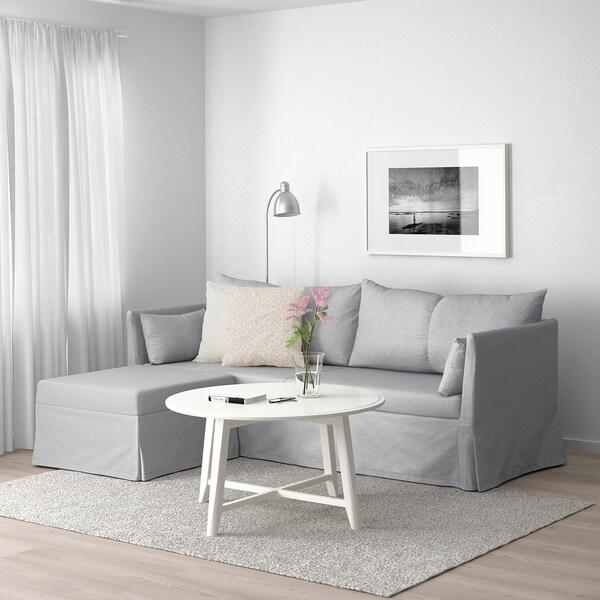 SANDBACKEN Sectional, 3-seat corner, Frillestad light gray