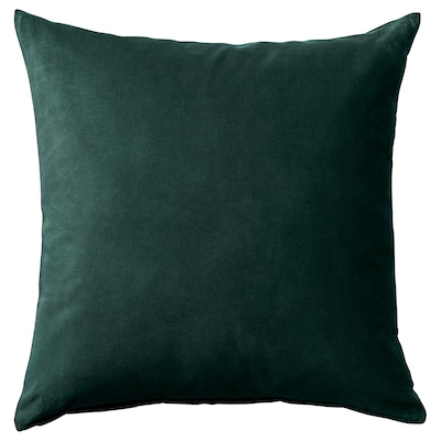 SANELA Cushion cover, dark green, 20x20 ""