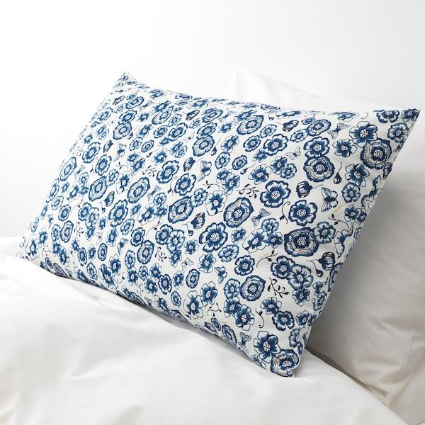 """SÅNGLÄRKA Cushion, flower/blue white, 26x16 """""""