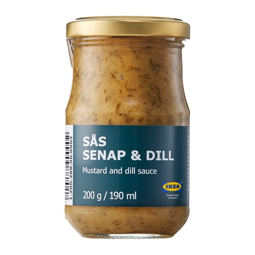 SÅS SENAP & DILL Sauce for salmon   A slightly sweet, yet savory, mustard sauce.