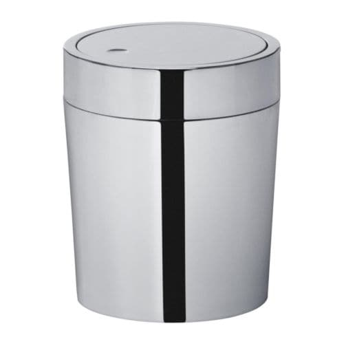 SÄVERN Trash basket   The inside plastic bucket is easy to empty and clean.
