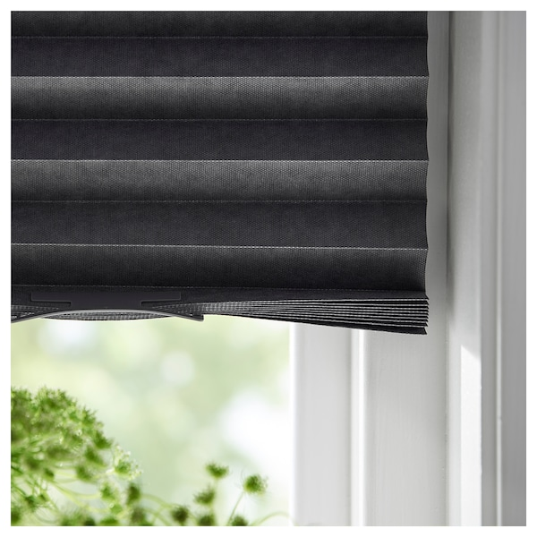 SCHOTTIS Blackout pleated blind, dark gray, 39 ¼x74 ¾ ""