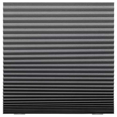 """SCHOTTIS blackout pleated blind dark gray 74 ¾ """" 39 ¼ """" 20.45 sq feet"""