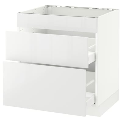 """SEKTION base cab f/cooktop with 2 drawers white Maximera/Ringhult white 30 """" 24 """" 24 3/4 """" 30 """""""