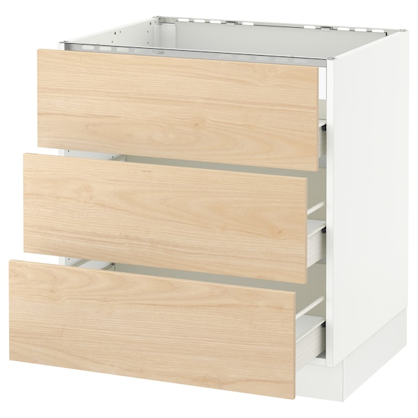 Sektion Base Cabinet F Cooktop W 3drawers White Forvara