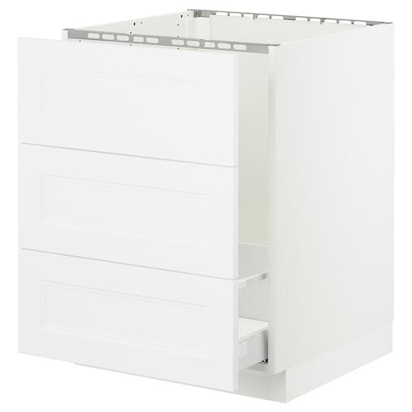 "SEKTION base cabinet f/sink & waste sorting white Maximera/Axstad matt white 24 "" 24 "" 24 3/4 "" 30 """