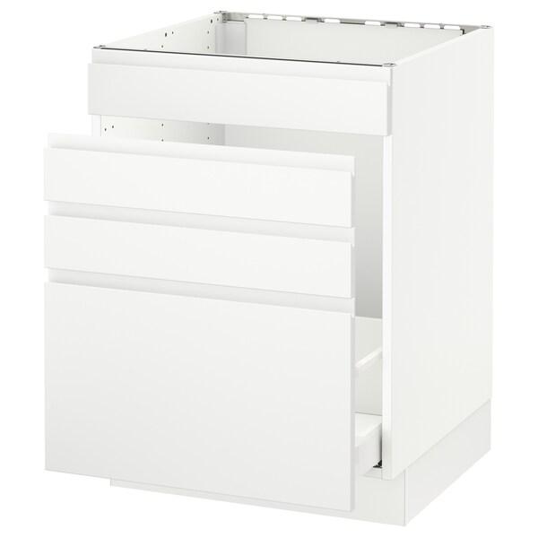 Sektion Base Cabinet F Sink Waste Sorting White Maximera