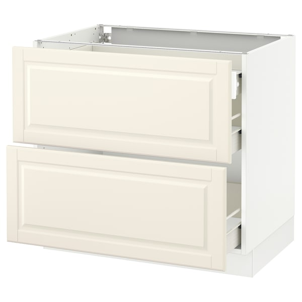 """SEKTION Base cab with 2 fronts/3 drawers, white Förvara/Bodbyn off-white, 36x24x30 """""""