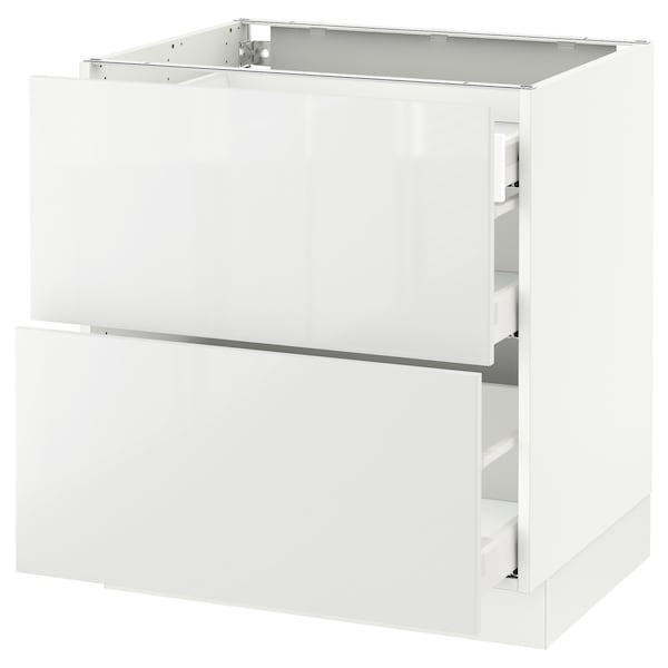 """SEKTION Base cab with 2 fronts/3 drawers, white Maximera/Ringhult white, 30x24x30 """""""