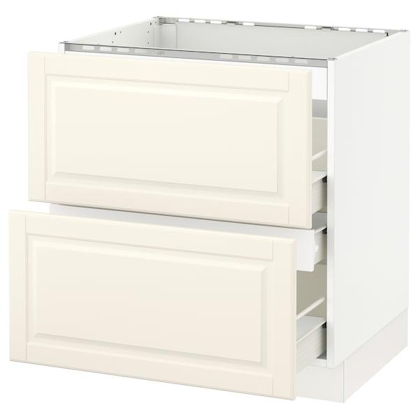 "SEKTION Base cabinet f/cooktop w/3 drawers, white Förvara/Bodbyn off-white, 30x24x30 """