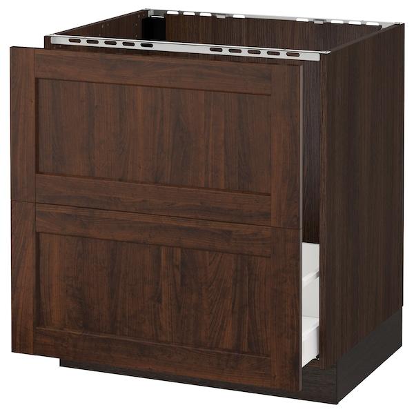 "SEKTION Base cabinet f/sink & recycling, brown Maximera/Edserum brown, 30x24x30 """