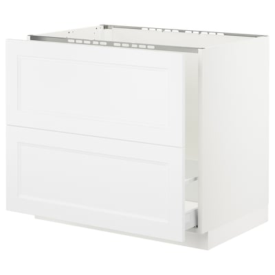 SEKTION Base cabinet f/sink & recycling, white Maximera/Axstad matt white, 36x24x30 ""