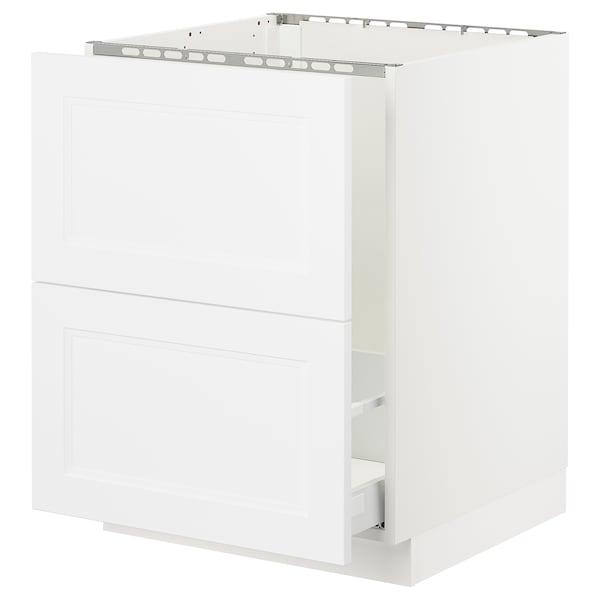 "SEKTION Base cabinet f/sink & recycling, white Maximera/Axstad matt white, 24x24x30 """