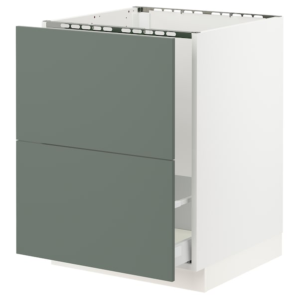 "SEKTION Base cabinet f/sink & recycling, white Maximera/Bodarp gray-green, 24x24x30 """