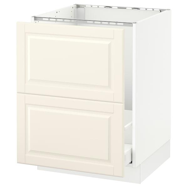 "SEKTION Base cabinet f/sink & recycling, white Maximera/Bodbyn off-white, 24x24x30 """