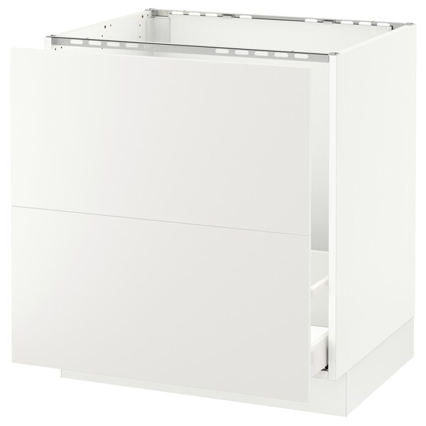 "SEKTION Base cabinet f/sink & recycling, white Maximera/Häggeby white, 30x24x30 """