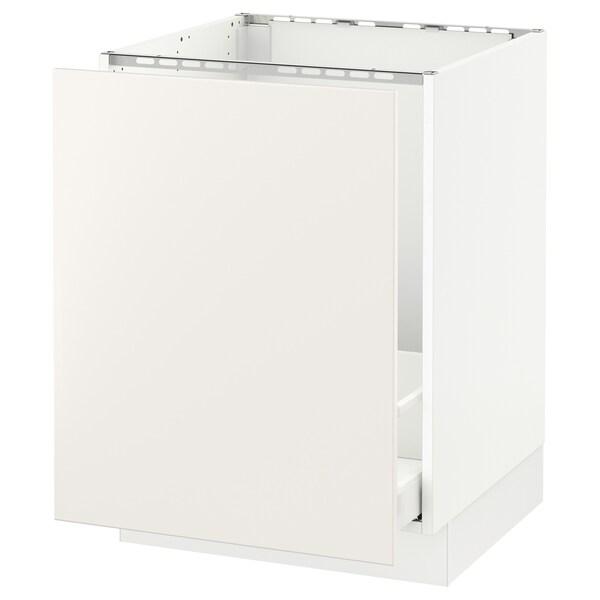 """SEKTION Base cabinet f/sink & recycling, white Maximera/Veddinge white, 24x24x30 """""""